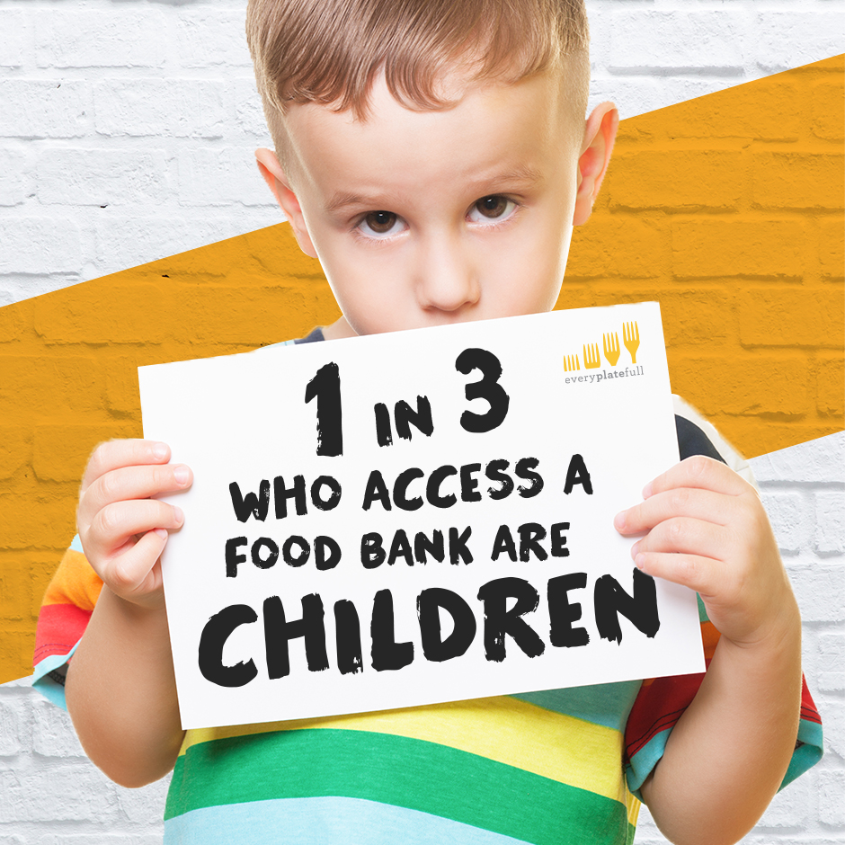 1 in 3 who access a food bank are children