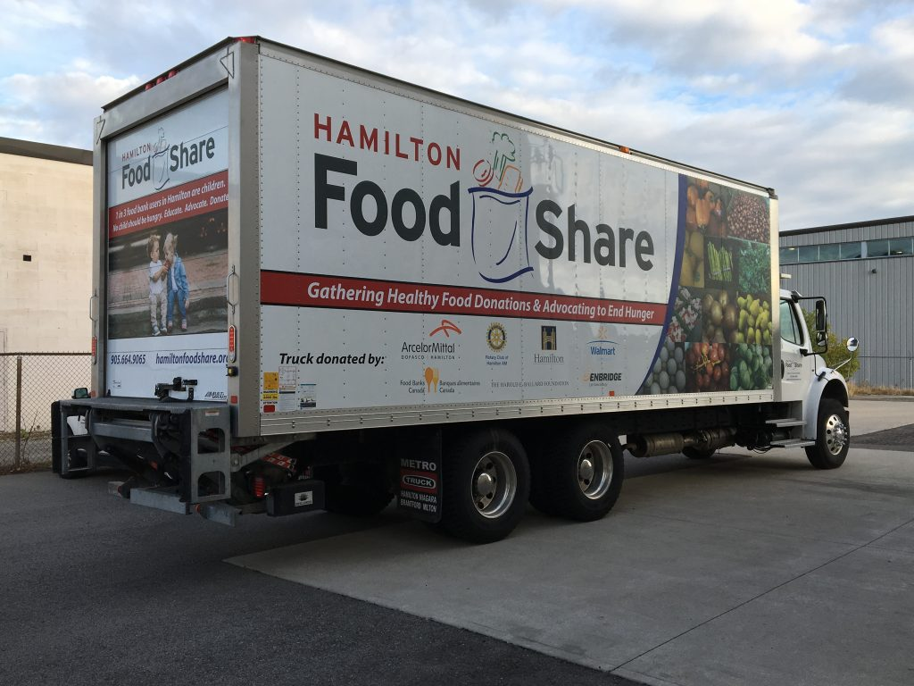 Hamilton Food Share's New Truck Side View