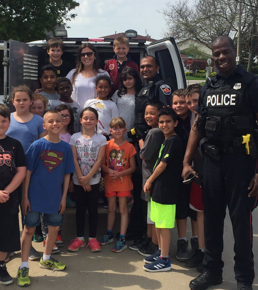 Pauline Johnson Students with Police