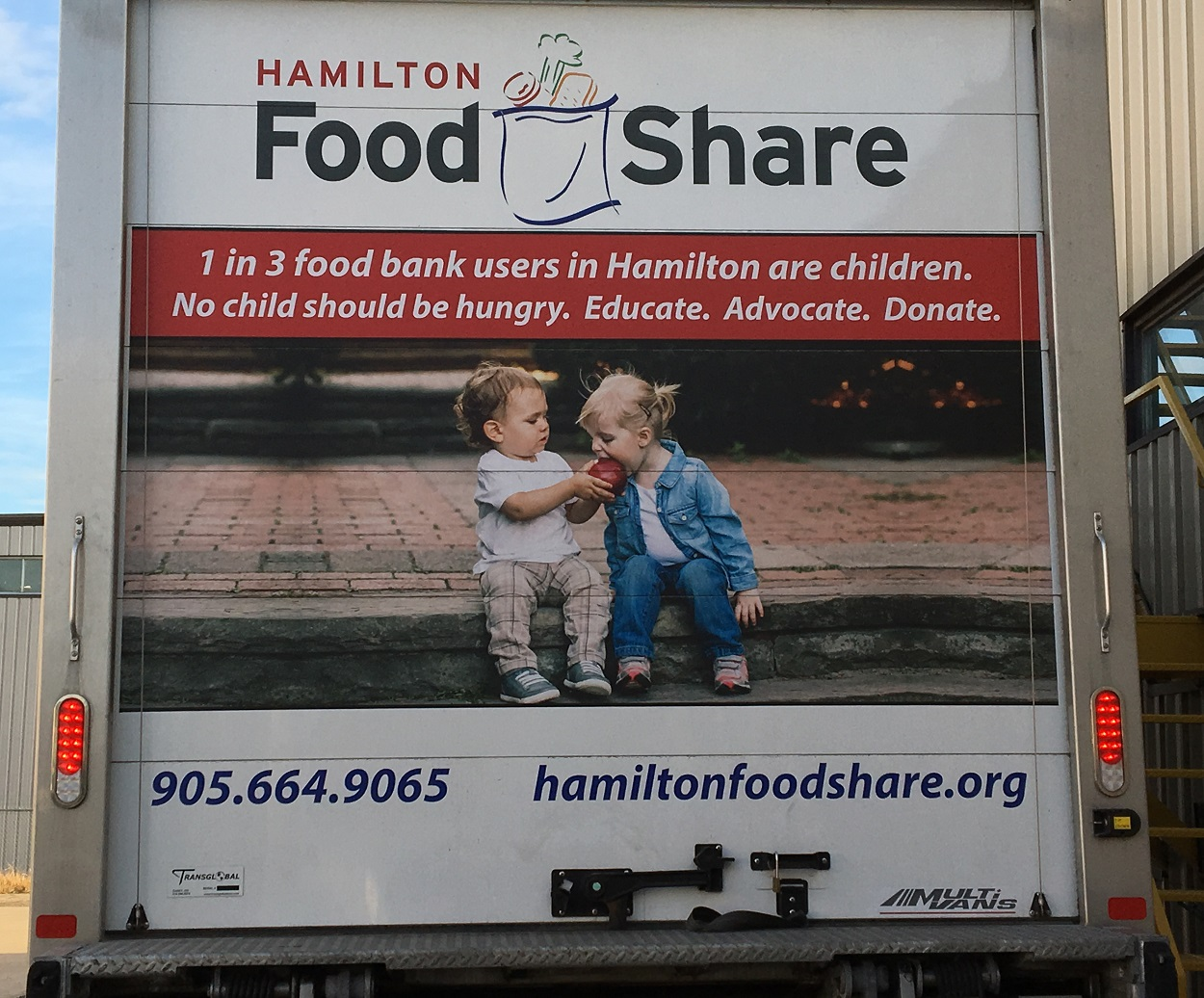 Hamilton Food Share's New Truck Back