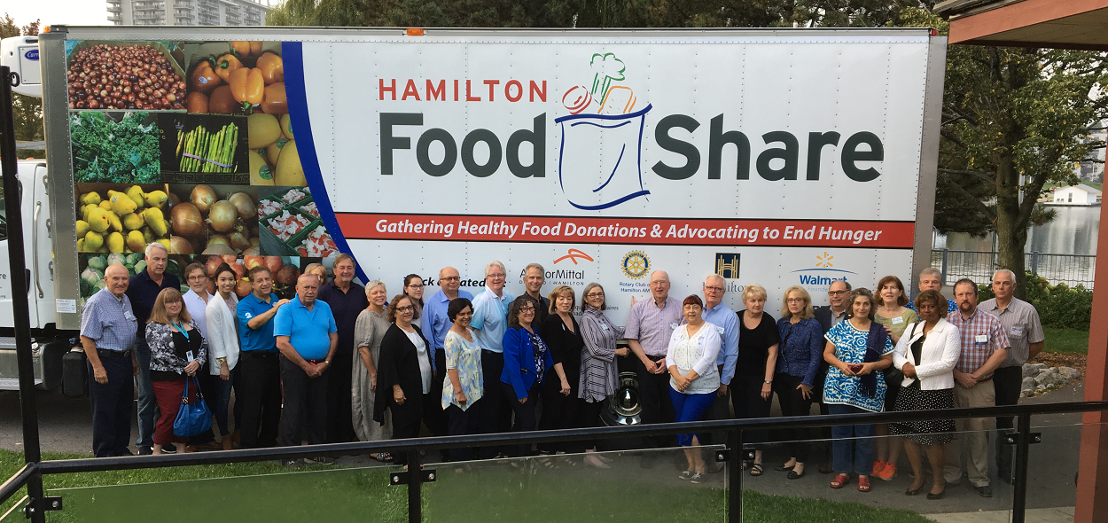 New Truck with members of the Rotary Club of Hamilton AM