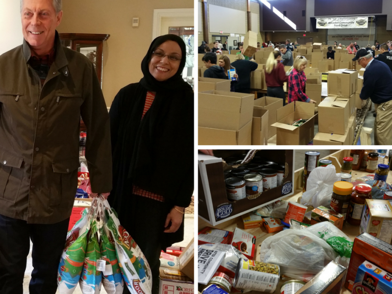 Ancaster Food Drive with Mayor Eisenberger