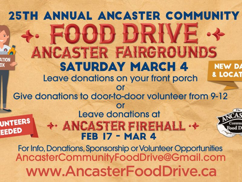 Ancaster Food Drive Poster