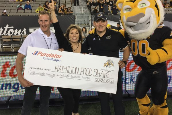 Tackle Hunger 2017 Cheque Presentation
